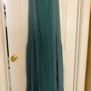 NWT Earthbound Teal Maxi dress, adjustable straps